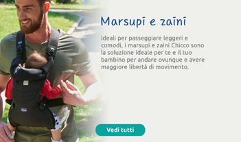 I marsupi e zaini Chicco: la soluzione ideale per andare ovunque con maggiore libertà di movimento.