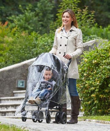 Comoda passeggiata con zanzariera, ombrellino, parapioggia, portaoggetti, portabevande, borsa…