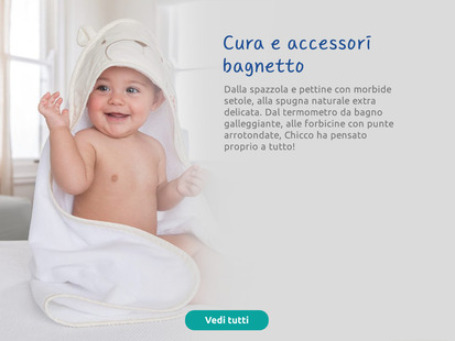 Bagnetto Chicco: spazzola con setole morbide, spugna naturale, termometro galleggiante…