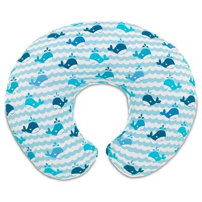 Cuscino allattamento Boppy cover Blue Whales
