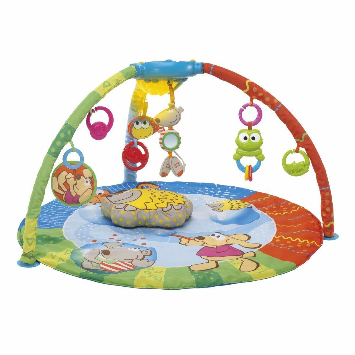 Games Chicco Bubble Gym Mobile Newborn 0m Rug Padded Usb 7 Hanging Rainbow Spinner
