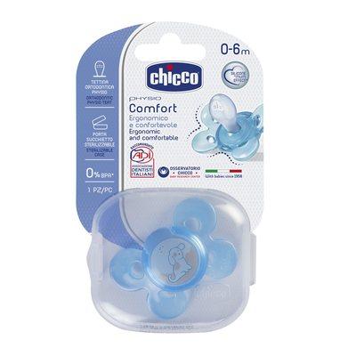 Succhietto Physio Comfort 0-6m Azzurro Silicone