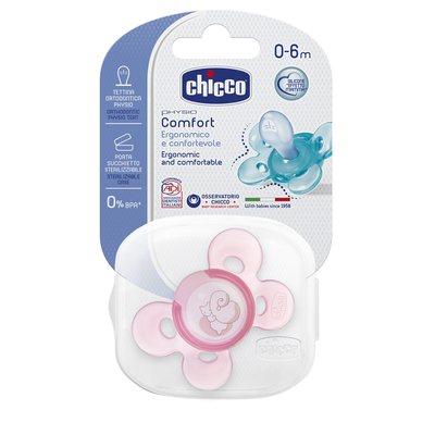 Succhietto Physio Comfort 0-6m Rosa Silicone