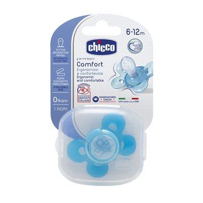 Succhietto Physio Comfort 6-12m Azzurro Silicone