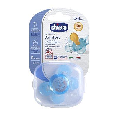 Succhietto Physio Comfort 0-6m Azzurro Caucciù