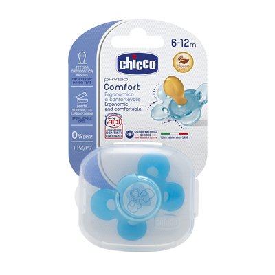Succhietto Physio Comfort 6-12m Azzurro Caucciù