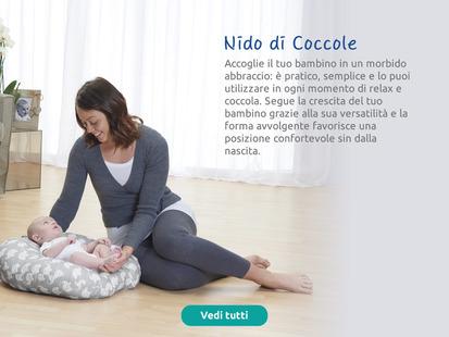 Il cuscino Nido di Coccole accoglie il tuo bambino in un morbido abbraccio.