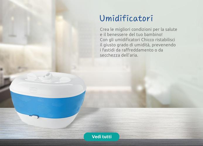 Umidificatori Chicco: le migliori condizioni per la salute del bambino. Il giusto grado di umidità.