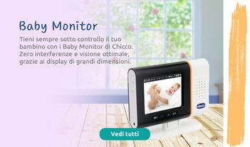 Tieni sempre sotto controllo il tuo bambino con i Baby Monitor di Chicco.