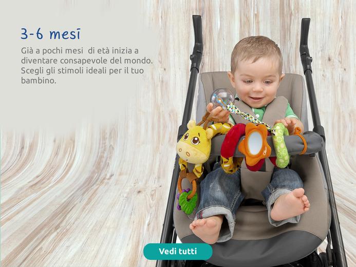 Dai 3 ai 6 mesi il bambino scopre il mondo. Scegli gli stimoli ideali.