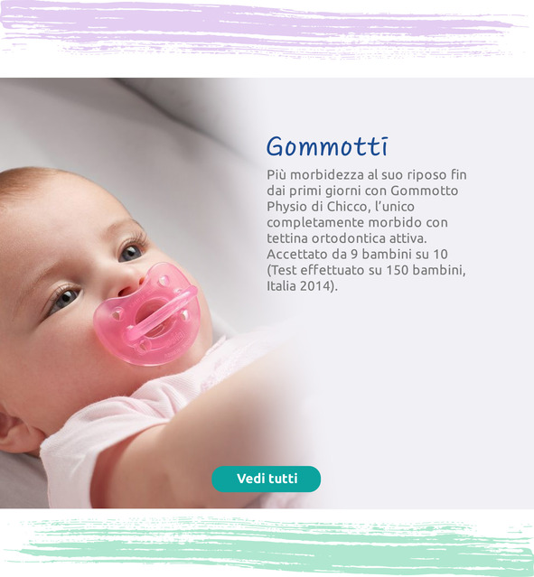 Più morbidezza per il riposo del bambino fin dai primi giorni con Gommotto Physio di Chicco.
