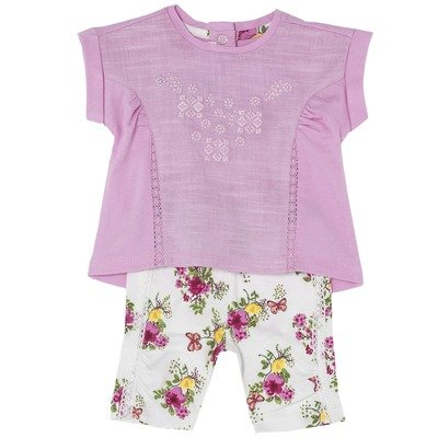 """Set t-shirt e pantaloncino """"Piccole Farfalle"""""""