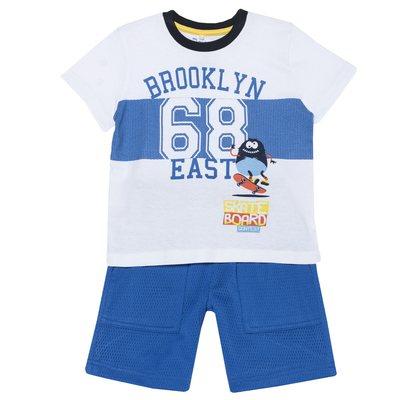 "Set t-shirt e pantaloncino ""Brooklyn"" bimbo"