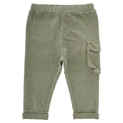 Pantalone con tascona applicata